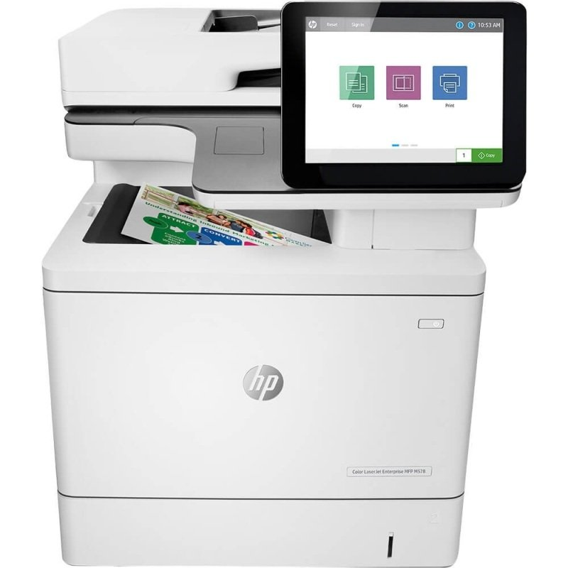HP Color LaserJet Enterprise MFP M578dn A4 Colour Multifunction Laser Printer - Available on HP Print at Your Service