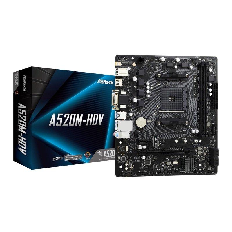 AsRock A520M HDV MicroATX Motherboard