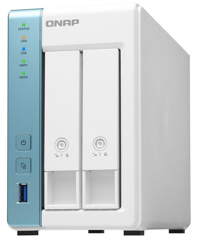 QNAP TS-231K 6TB (2 x 3TB) WD Red 2 Bay Desktop NAS Enclosure