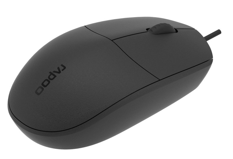 Rapoo N100 Wired Mouse - Black