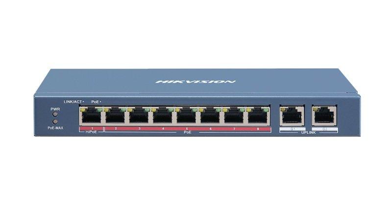 Hikvision 8 Port Fast Ethernet Unmanaged PoE Switch