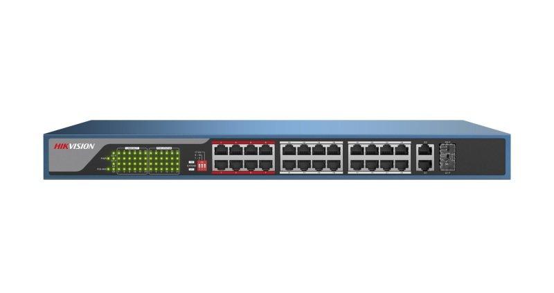 Hikvision 24 Port Fast Ethernet Unmanaged POE Switch