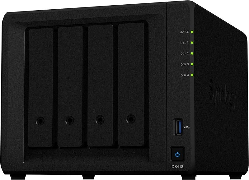 Synology DS418 32TB (4 x 8TB) Seagate IronWolf 4 Bay Desktop NAS Enclosure