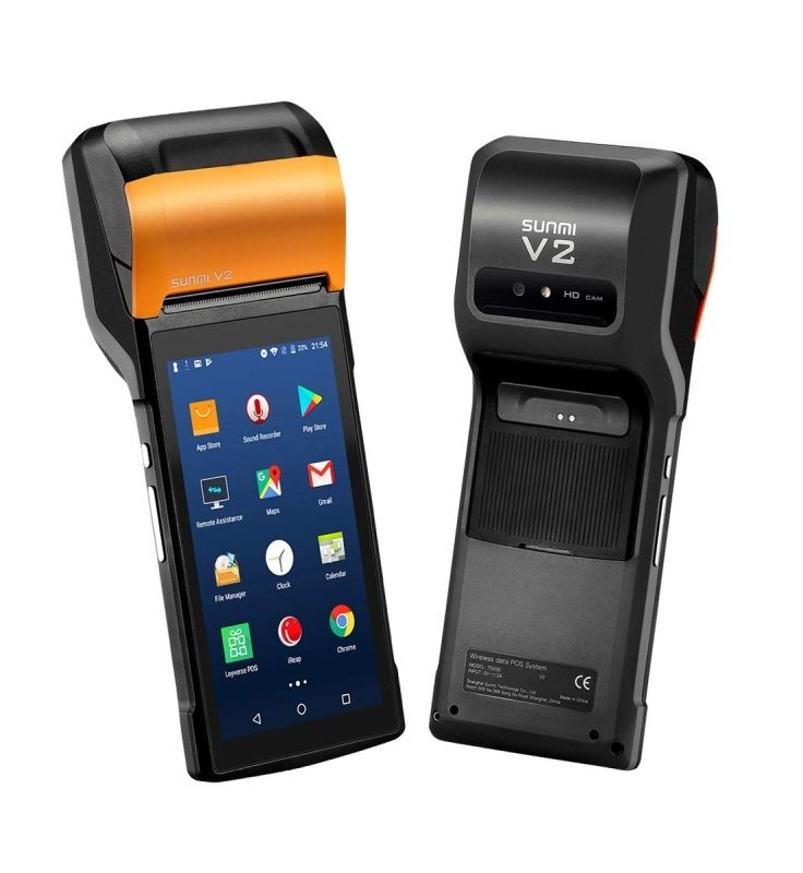 "Sunmi V2 T5930 5.45"" Handheld 4G POS Terminal with Built-In Printer"