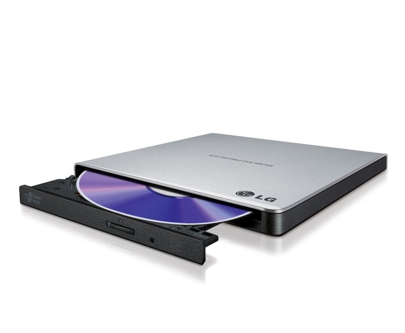 LG GP57ES40.AHLE10B Ultra Slim Portable USB 2.0 DVD-RW - Silver