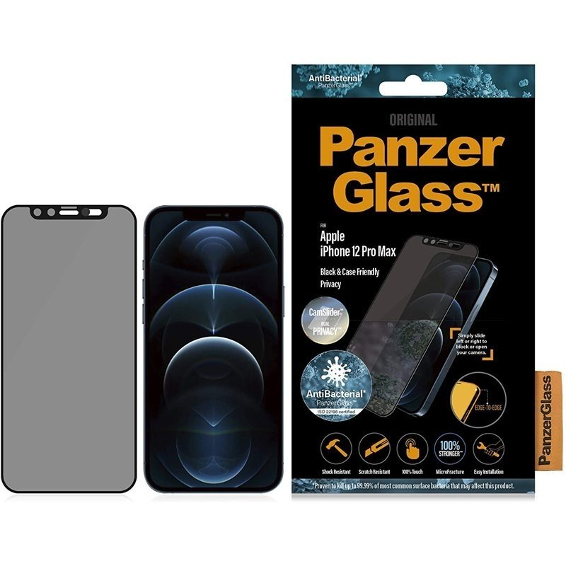 PanzerGlass Apple iPhone 12 Pro Max Edge-to-Edge Privacy Camslider