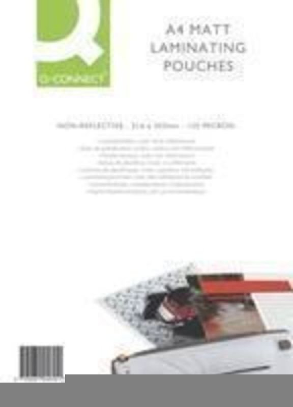 Q CONNECT A4 MATT LAM POUCH 125MIC PK100