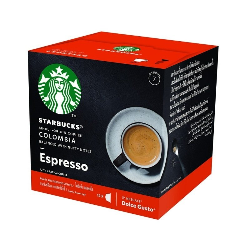 Starbucks By Nescafe Dolce Gusto Espresso Colombia Medium Roast Coffee 12 Capsules (pack 3)