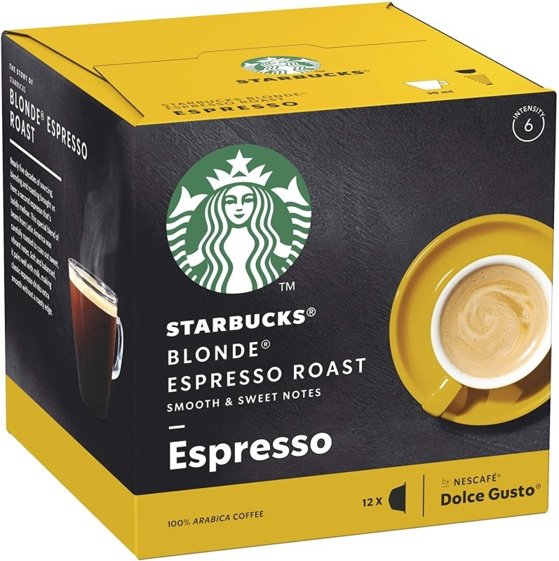 Starbucks By Nescafe Dolce Gusto Blonde Espresso Roast Coffee 12 Capsules (pack 3)