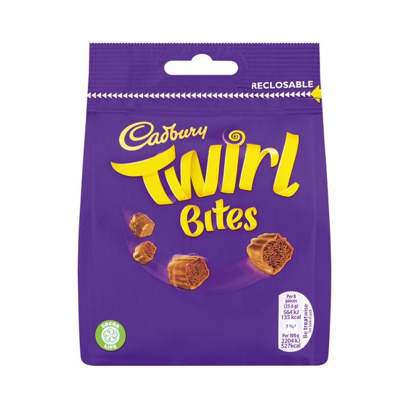 Cadbury Twirl Bites Share Bag 95g Each 4240114