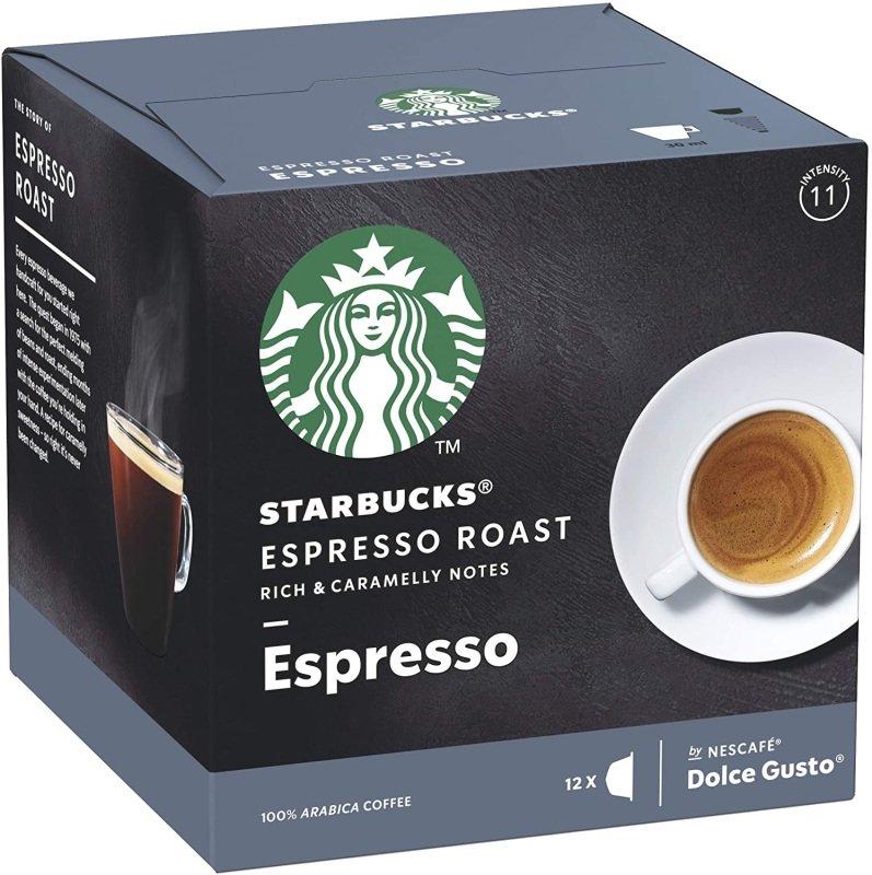 Starbucks By Nescafe Dolce Gusto Espresso Columbia Dark Roast Coffee 12 Capsules (pack 3)