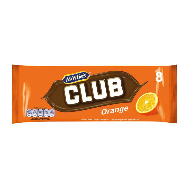 McVities Club Orange Biscuits (Pack of 8) 16726