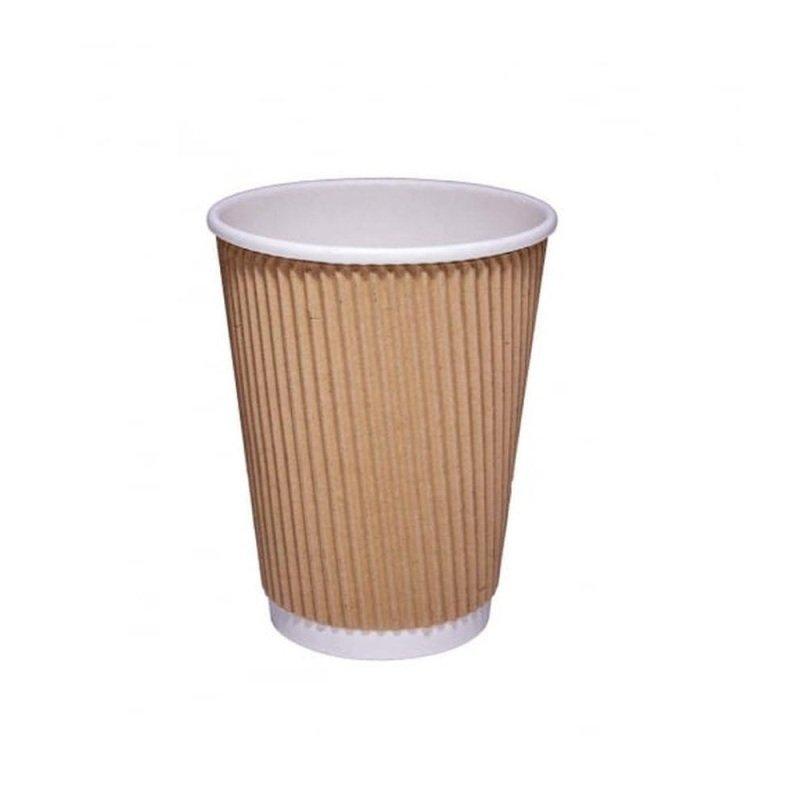 Valuex Hot Drink Cup Kraft Ripple 12oz (pack 25)