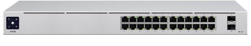 Ubiquiti USW-24 Configurable Layer 2 Switch - 24 Gigabit Ethernet Ports - 2 SFP Ports
