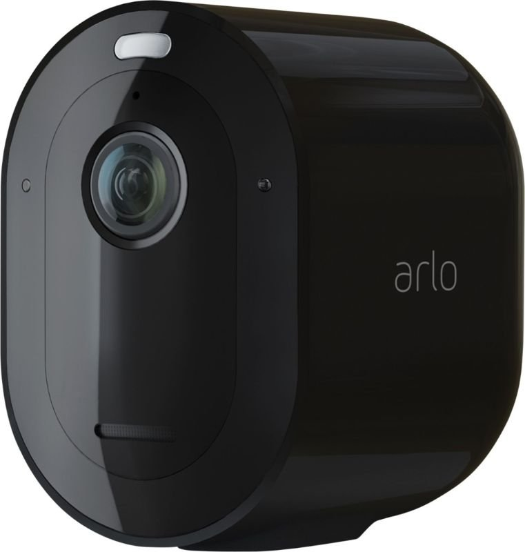 Arlo Pro 4 Wireless Spotlight Security Camera - Black