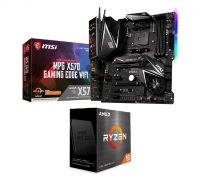 MSI MPG X570 GAMING EDGE WIFI ATX Motherboard and AMD Ryzen 9 5900X AM4 Processor Bundle