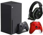 Xbox Series X + Turtle Beach Stealth Gen2 600X + Extra Red Xbox Controller