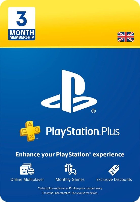 PlayStation Plus 3 Month Subscription