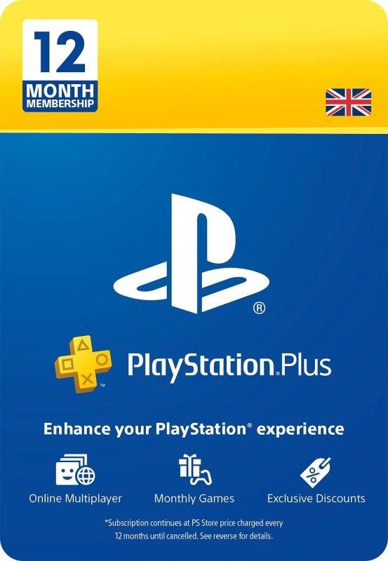 PlayStation Plus: 12 Month Membership   PS5/PS4/PS3   PSN Download Code - UK account