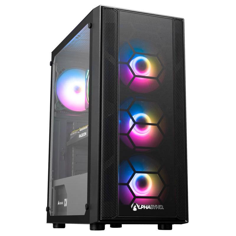 AlphaSync RX 6700XT AMD Ryzen 5 16GB RAM 500GB SSD Gaming Desktop PC