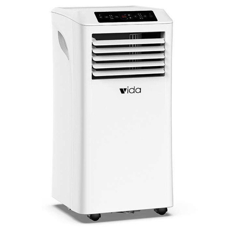 Vida Portable Air Conditioner 7000BTU 3 in 1 Air Conditioning, Air Cooler, Dehumidifier with Fan Function, Remote Control, 24 Hour Timer & Window Venting Kit