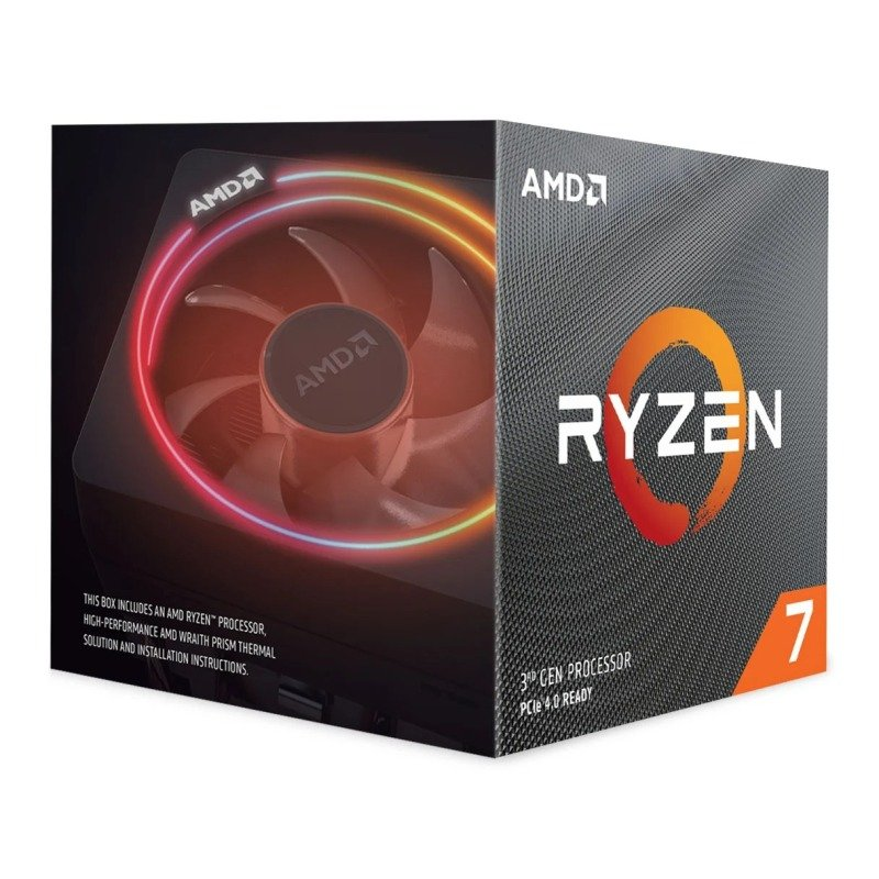 Image of AMD Ryzen 7 3700X AM4 CPU/ Processor with Wraith Prism RGB Cooler