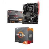 MSI B450 TOMAHAWK MAX II ATX Motherboard and AMD Ryzen 5 3600 AM4 CPU/ Processor Bundle