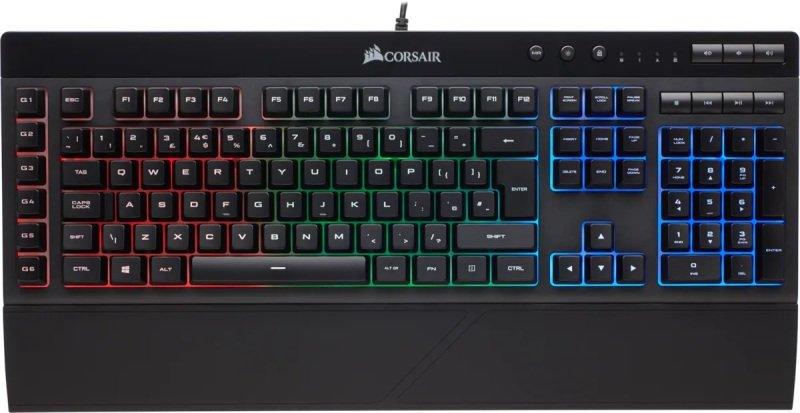 Refurbished by Corsair K55 RGB Spill Resistant Gaming Keyboard