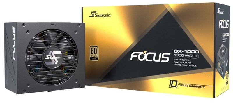 Seasonic FOCUS GX 1000 Watt Full Modular 80+ Gold PSU/Power Supply