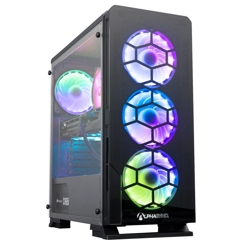 AlphaSync Gaming Desktop Intel Core i5 10400F 16GB RAM 1TB HDD 480GB SSD RX 6700 XT Windows 10 Home