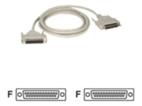 C2G, DB25 F/F Null Modem Cable, 2m