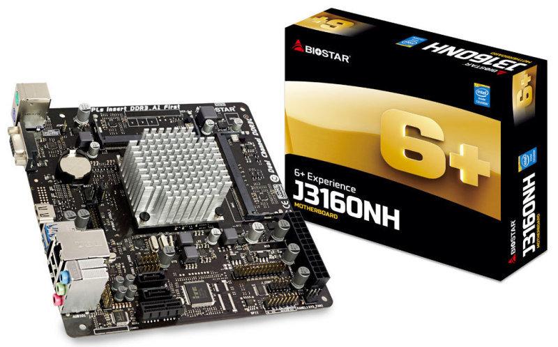 EXDISPLAY Biostar J3160NH CPU Onboard DDR3 mITX Motherboard