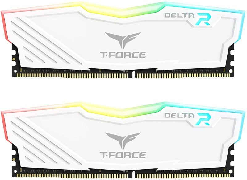 TeamGroup T-Force Delta RGB 16GB (2x 8GB) 3600MHz DDR4 RAM - White