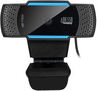 Adesso CyberTrack H5 1080P HD Auto Focus Webcam with Built-In Dual Microphone, Tripod-Ready Clip and Privacy Shutter