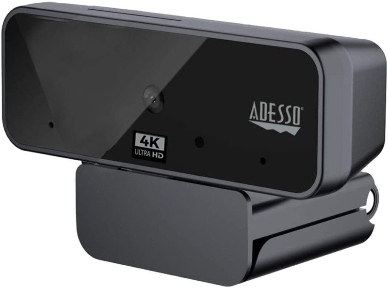 Adesso CyberTrack H6 4K Ultra HD USB Webcam with Built-In Stereo Microphone and Privacy Shutter