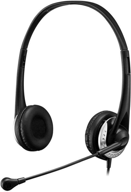 Adesso Xtream P2 USB Wired Stereo Headset with Adjustable Noise-Canceling Microphone