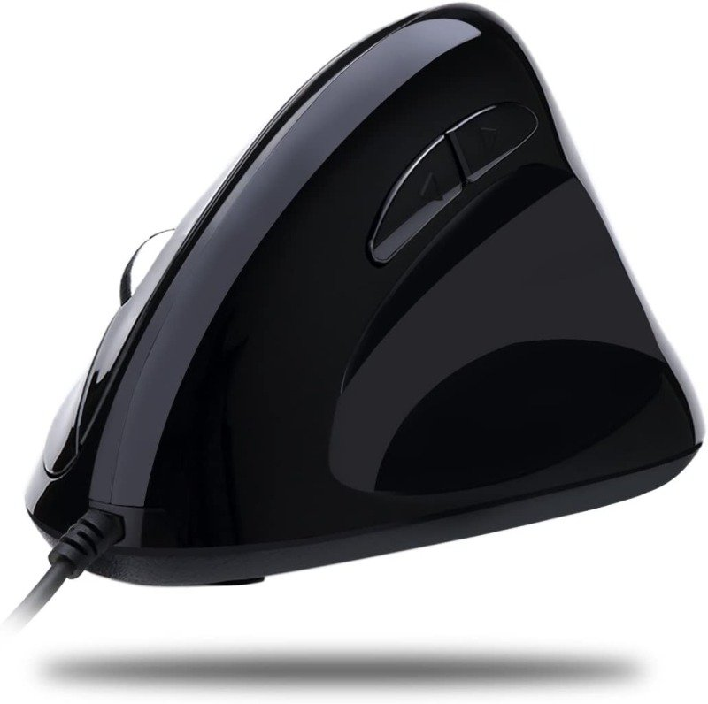 Adesso iMouse E3 Vertical Ergonomic Programmable Gaming Mouse with Adjustable Weights