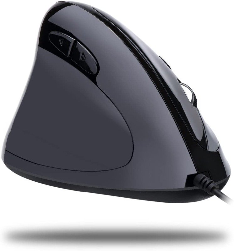 Adesso iMouse E7 Left-Handed Vertical Ergonomic Programmable Gaming Mouse with adjustable weight