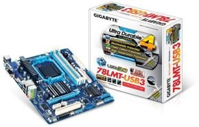 Gigabyte GA-78LMT-USB3 Socket AM3+ VGA DVI HDMI 7.1 Channel Audio mATX Motherboard