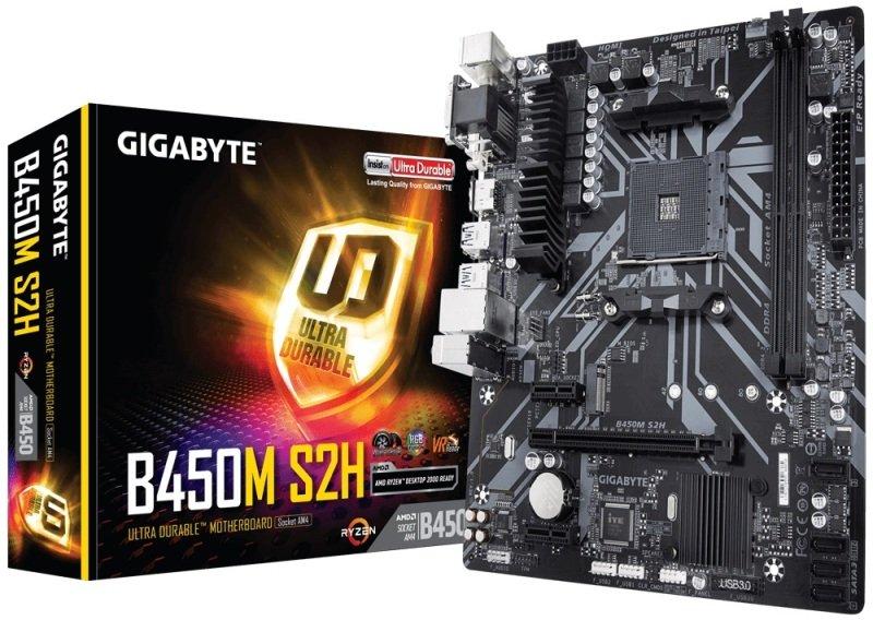 EXDISPLAY Gigabyte B450M S2H Socket AM4 mATX Motherboard