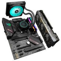 AlphaSync RTX 3070Ti AMD Ryzen 7 16GB RAM AURAFLOW 120 Custom PC Bundle