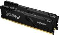 Kingston FURY Beast 16GB (2 x 8GB) 2666MHz DDR4 RAM - Black