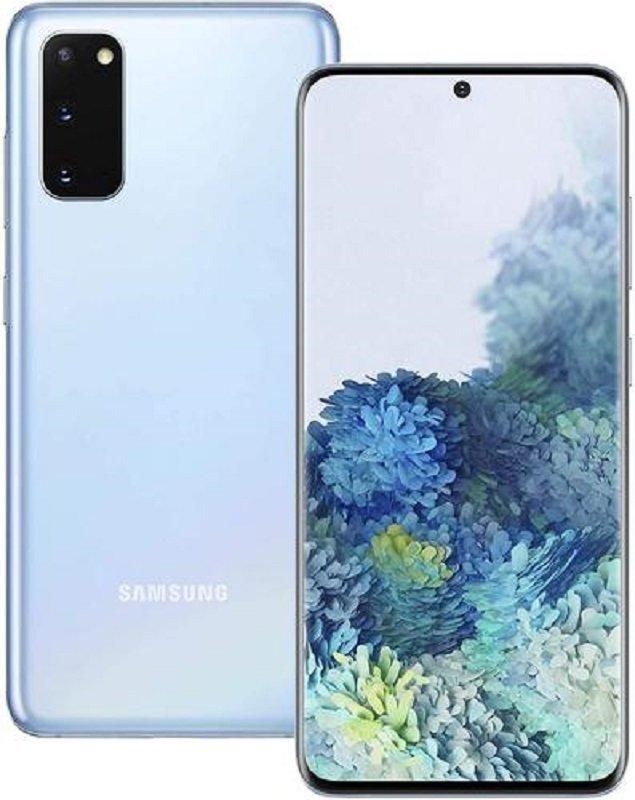 Refurbished Samsung S20 4G 128GB Smartphone - Cloud Blue