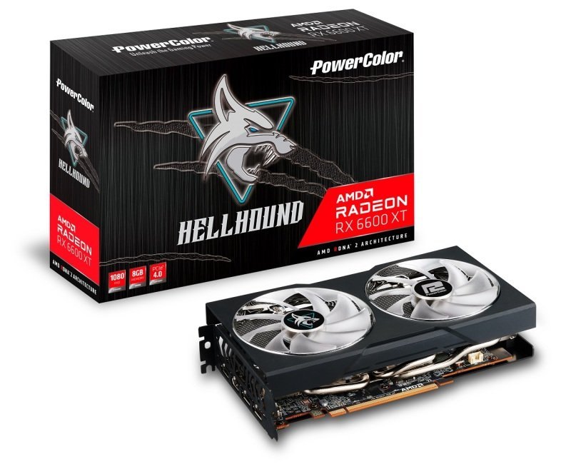 PowerColor Radeon RX 6600 XT 8GB Hellhound Graphics Card