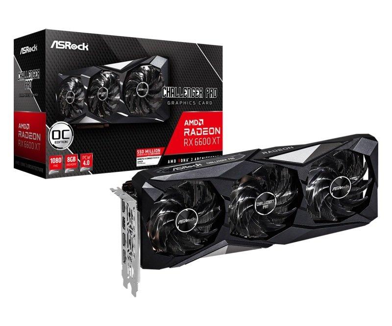 Asrock Radeon RX 6600 XT Challenger Pro 8GB OC Graphics Card