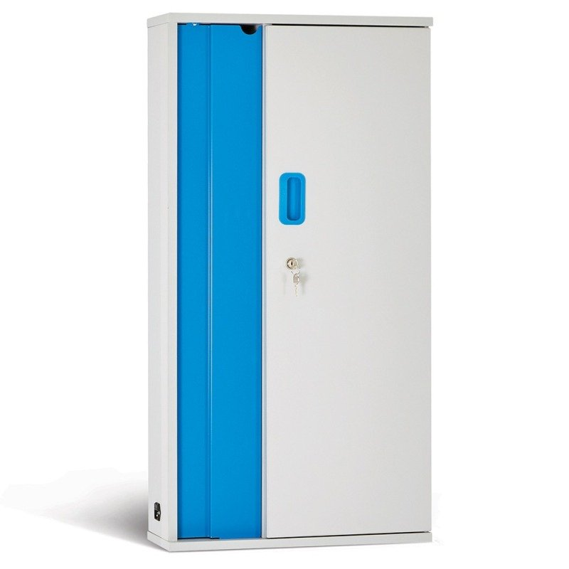 LapCabby 10-Device Wall Mounted AC Charging Cabinet