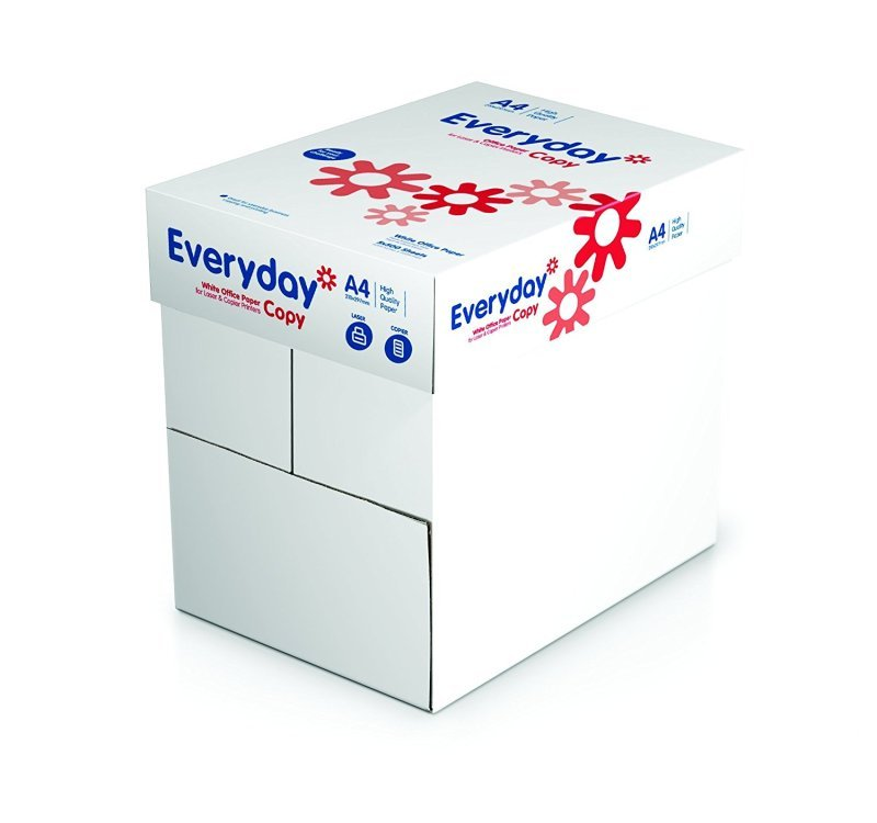 Everyday Paper 80gsm A4 White 2500 Sheets (Box Of 5 Reams)