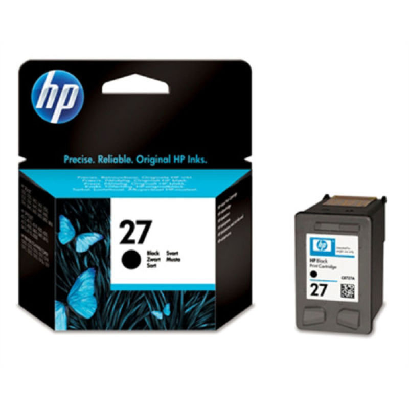 *HP 27 Black Ink Cartridge - C8727AE