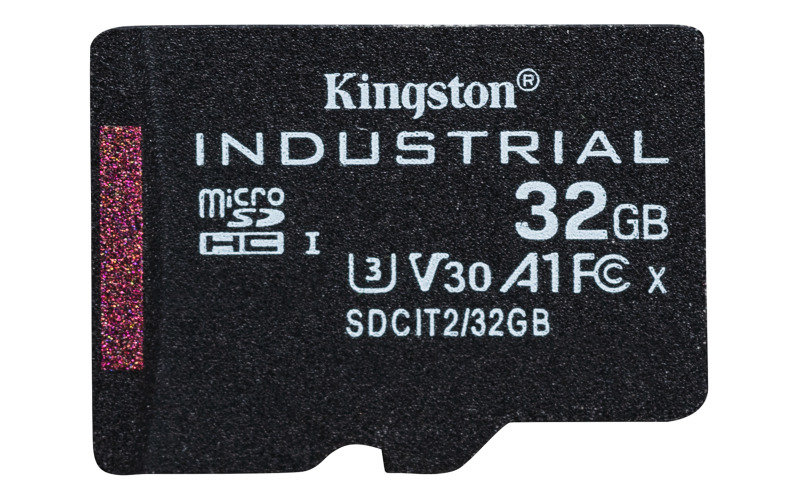 Kingston Industrial microSD 32GB C10 A1 pSLC Card + Without SD Adapter