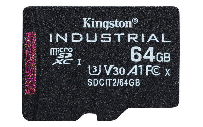 Kingston Industrial microSD 64GB C10 A1 pSLC Card + Without SD Adapter